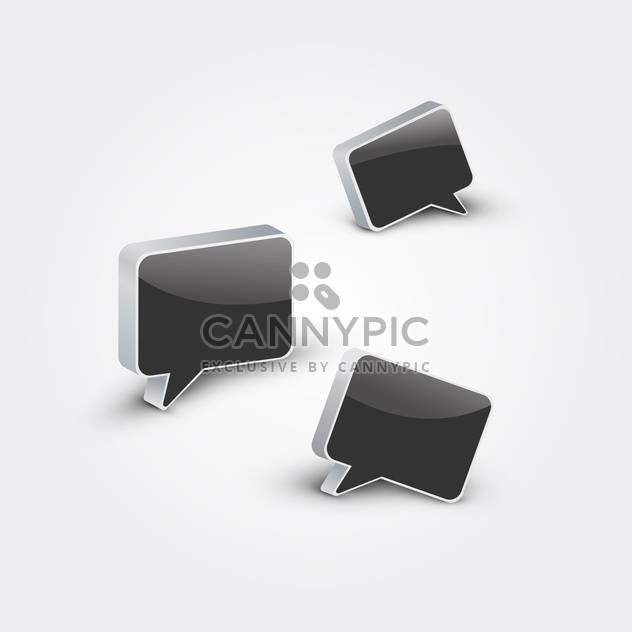 abstract black speech bubbles background - Free vector #134831