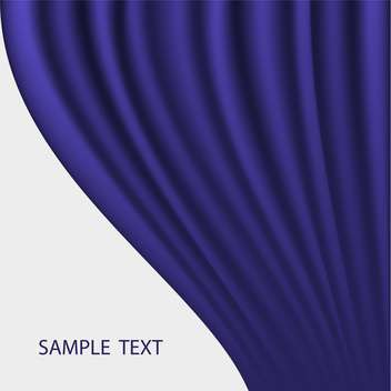 blue abstract curtain vector background - Free vector #134851