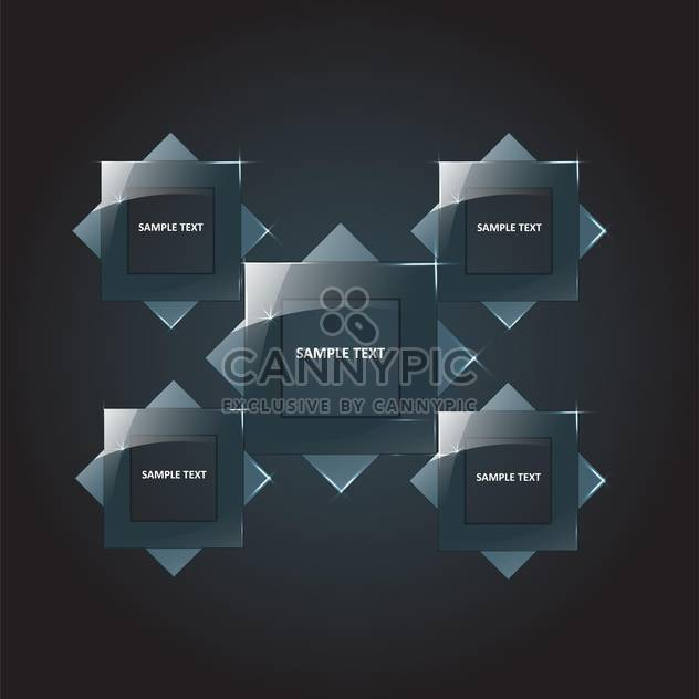 vector set of square banners - Free vector #134861