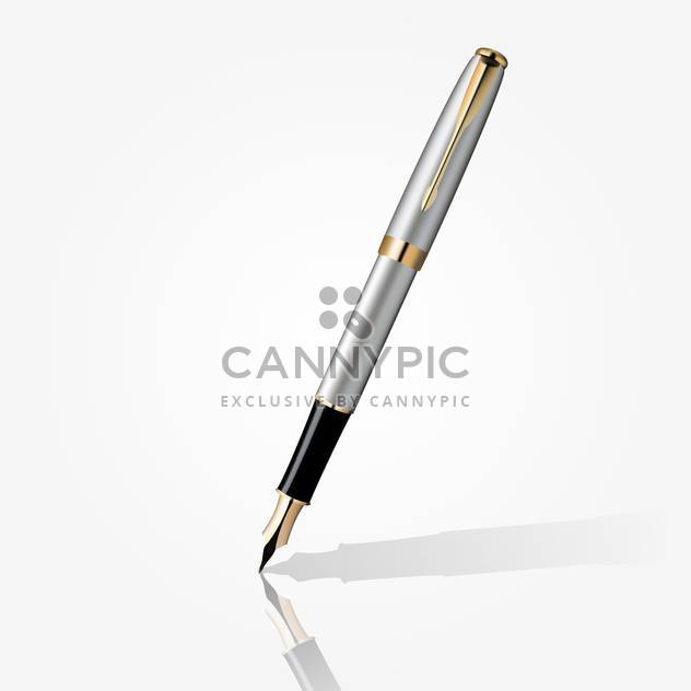 fountain ink pen vector illustration - Free vector #134871