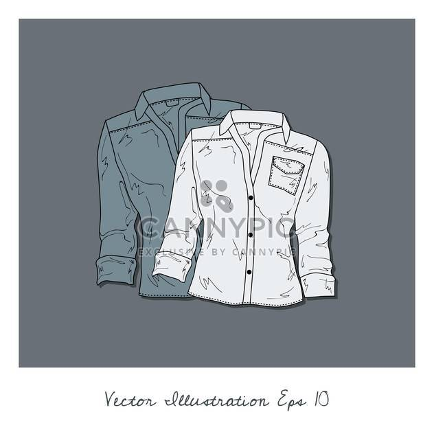 vector background with blouses collection - Free vector #134931