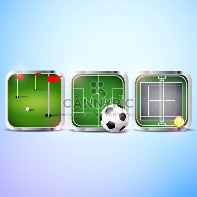 set of vector sport icons - Free vector #134981