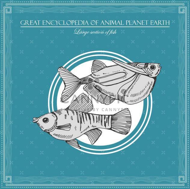 Fisch-Illustration im großen Enzyklopädie des Tieres - Kostenloses vector #135021