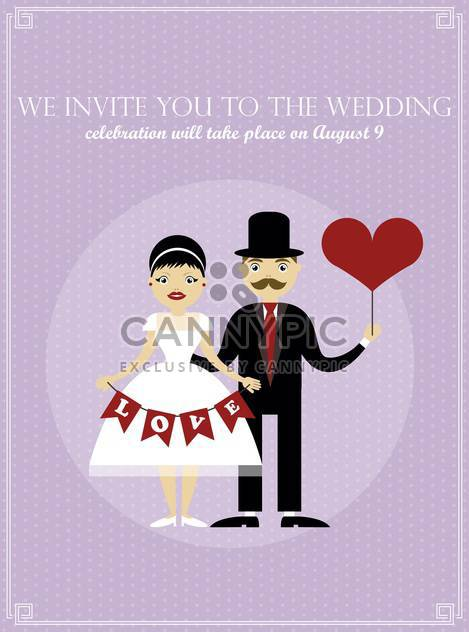 Hochzeit Tag Urlaub Einladung Karte Hintergrund - Kostenloses vector #135031