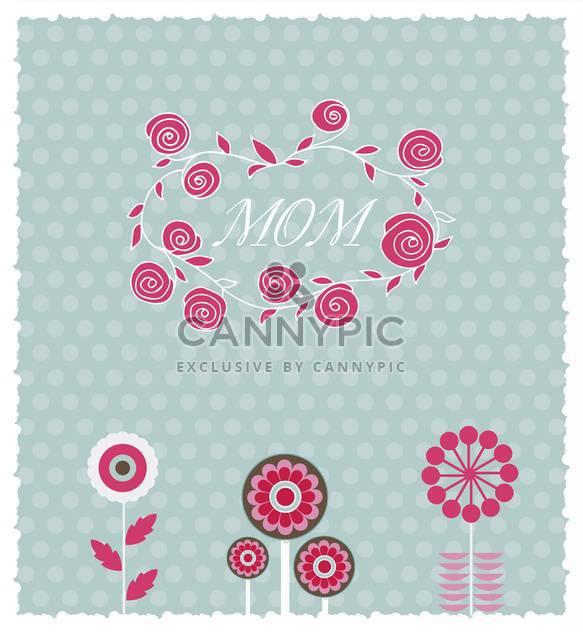 Grußkarte für Muttertag mit Frühlingsblumen - Kostenloses vector #135061
