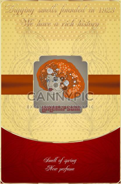 old postcard with woman face icon - Free vector #135121