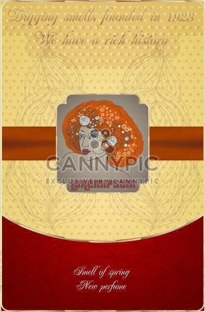 Alte Postkarte mit Frau Gesicht Symbol - Kostenloses vector #135121
