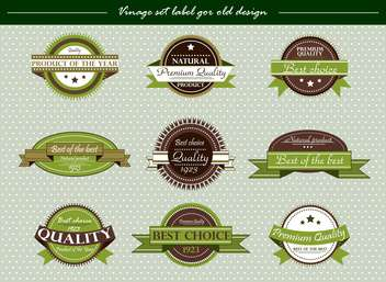 vector vintage labels set in retro style - vector #135141 gratis