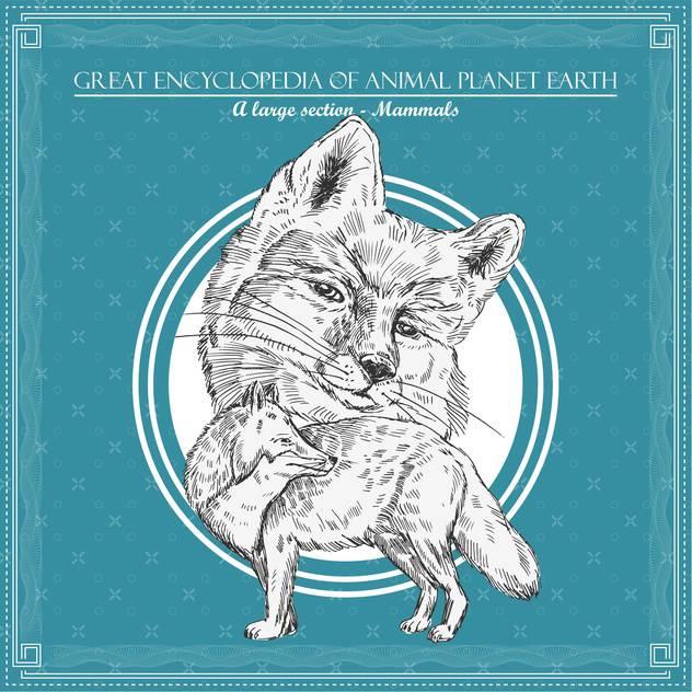 fox illustration for great encyclopedia of animals - vector #135171 gratis