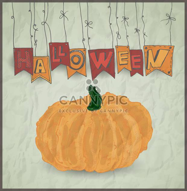 halloween holiday pumpkin on grey background - Free vector #135261