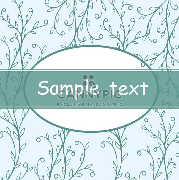 schöne Blumen Einladungskarte in blauen und weißen Farben - Free vector #135281