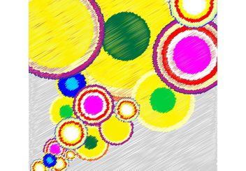 Circle Scribble Background - vector #138751 gratis