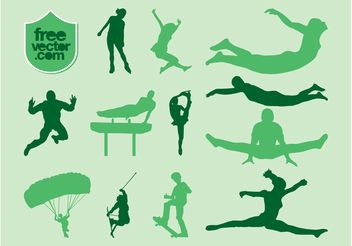 Sports Vector Silhouettes - Free vector #138971