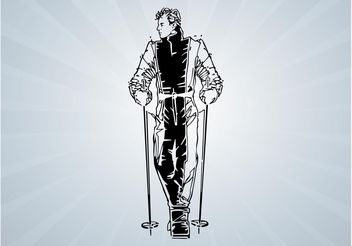 Skier Portrait - Free vector #139001