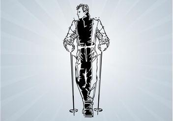 Skier Portrait - vector #139001 gratis
