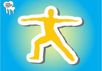 Workout Sticker - Free vector #139051