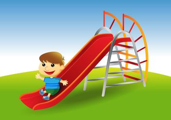 Playground Slide Vector - Free vector #139091