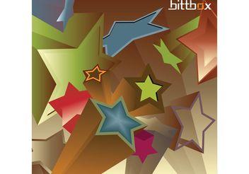Vintage 3D Stars - vector gratuit #139141
