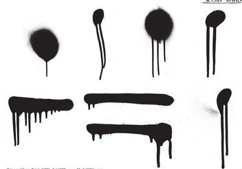 Drips and Spray Paint - Free vector #139351
