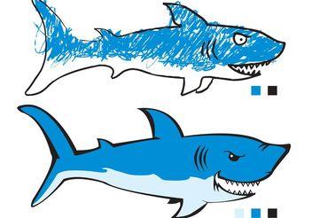 2 sharks - Free vector #139391