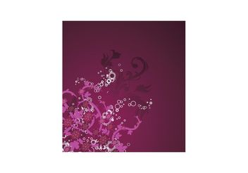 Beautiful purple floral background - vector gratuit #139411