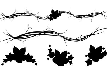 Free Horizontal Floral Ornaments - Kostenloses vector #139431