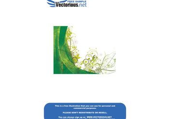 Free green vector summer background - Kostenloses vector #139531