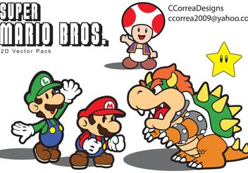 Super Mario Vector Pack - Free vector #139661
