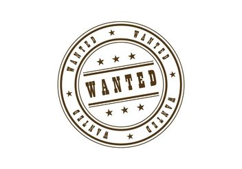 Wanted Stamp - vector #139711 gratis