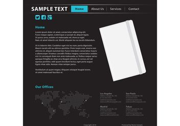 Notebook Writing Website Template - vector gratuit #139731