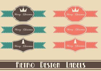 Free Retro Christmas Label Vectors - Free vector #139751