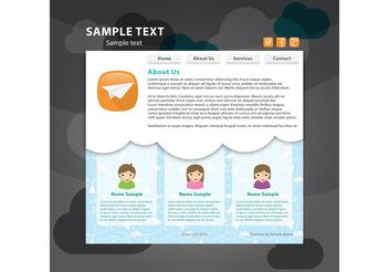 Social Web Page Vector Template - Free vector #139781