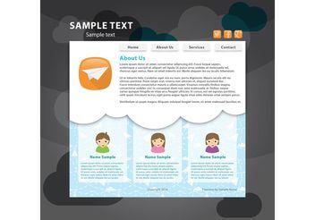 Social Web Page Vector Template - Kostenloses vector #139781