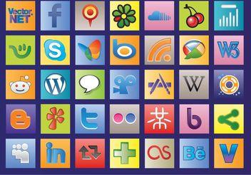 Social Web Vectors - Kostenloses vector #139921