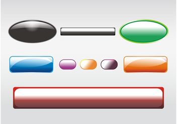 Shiny Buttons Clip Art - vector gratuit #140011