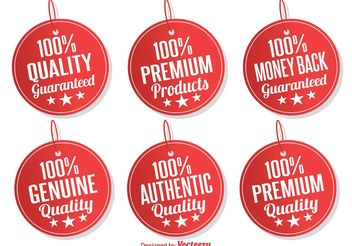 Promotional Tags / Labels - Free vector #140031