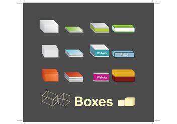 Box Vectors - vector gratuit #140081