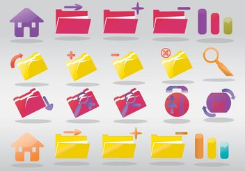 Computer Folder Icons - vector gratuit #140151