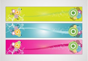 Colorful Banners Designs - Free vector #140211