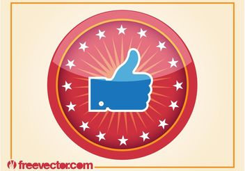 Like Badge - vector #140281 gratis