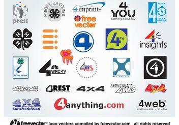 4 Logos - Free vector #140371