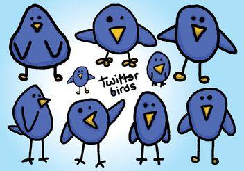 Free Twitter Birds Vectors - Free vector #140401