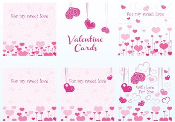 Valentine Vector Cards - бесплатный vector #140431