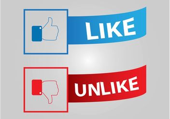 Facebook Buttons - vector gratuit #140621