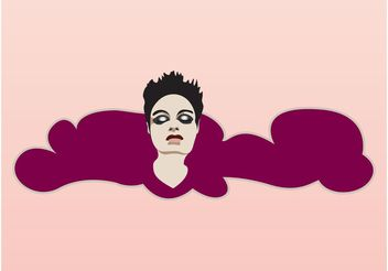 Girl Banner - vector #140641 gratis