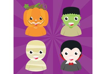 Halloween Avatars 01 - Free vector #140731