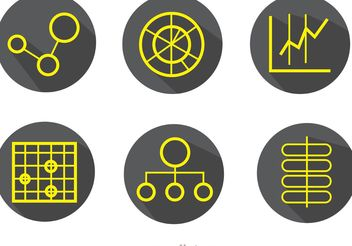Big Data Simple Outline Icons Vector Pack - Kostenloses vector #140801
