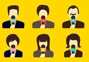 News Reporter Vectors - vector gratuit #140871