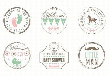 Free Baby Label Set Vector - Free vector #140881