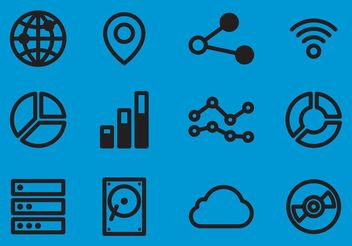 Big Data Vector Icons - Free vector #140891